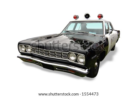 Vintage Classic Police Car - stock photo