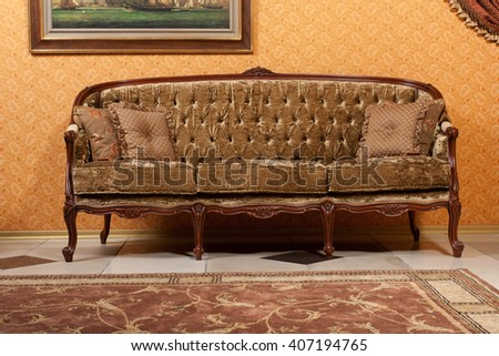 vintage classic style sofa