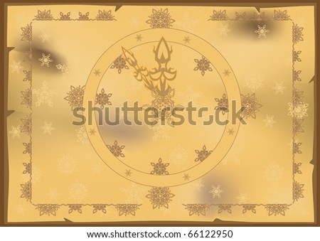 Vintage Clock Almost Midnight Grunge For New Year. Raster. - stock photo