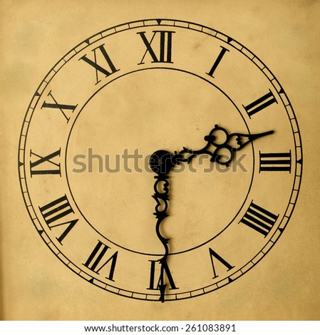 Vintage Clock Face - stock photo