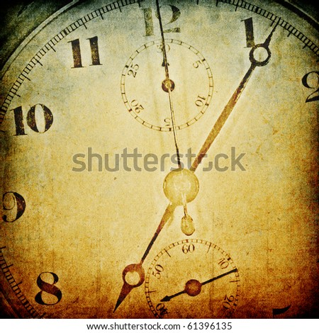 Vintage clock face. Abstract time theme background. - stock photo