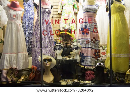 Vintage Clothing Storefront - stock photo
