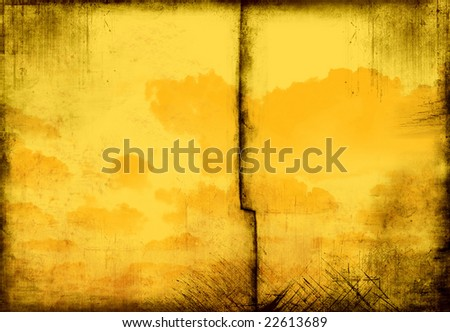 VINTAGE CLOUDY GRUNGE TEXTURE - stock photo
