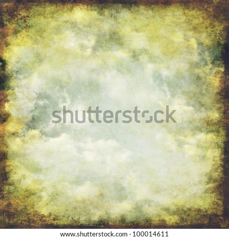 Vintage cloudy sky background - stock photo