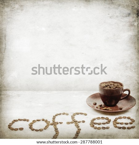 Vintage coffee background - stock photo