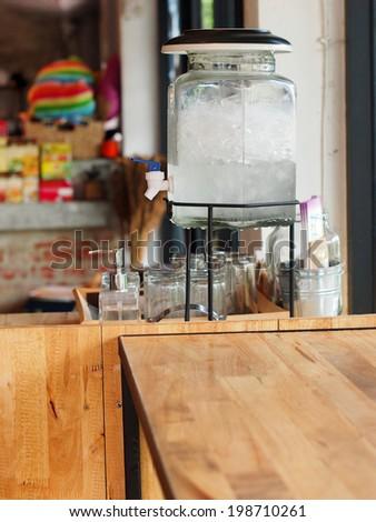 vintage coffee shop - stock photo