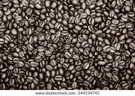 Vintage color coffee background - stock photo