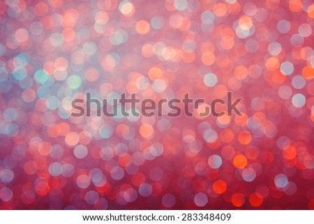 Vintage colored bright glowing lights bokeh background - stock photo