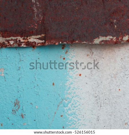 vintage, colorful, old iron wall as background and texture