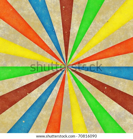 Vintage colorful rays illustration - stock photo