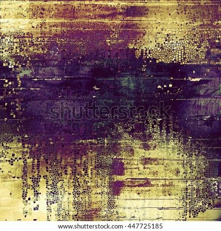 Vintage colorful textured background. Backdrop in grunge style with antique design elements and different color patterns: yellow (beige); brown; blue; purple (violet); pink - stock photo