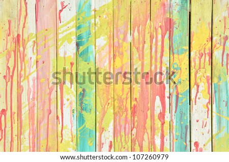 Vintage colorful wall - stock photo