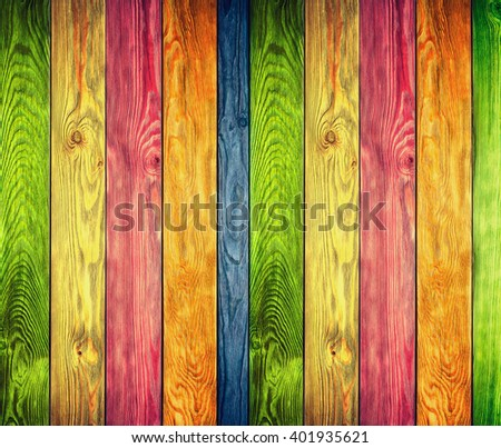 vintage colorful wood background - stock photo