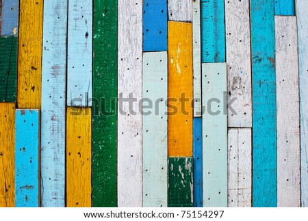 vintage colorful wood background texture - stock photo
