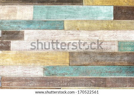 vintage colorful wooden planks - stock photo