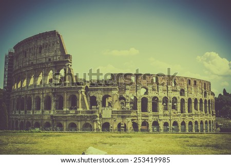 Vintage Colosseum - Rome, Italy