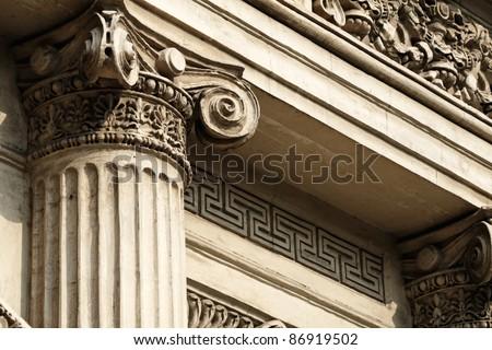 Vintage columns - stock photo