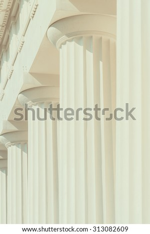 Vintage Columns Architecture Of Ancient Greek Temple