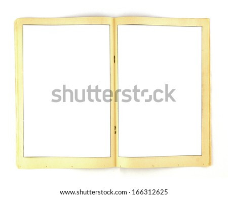 Vintage Comic Book Frames Paper Background Template - stock photo