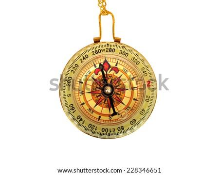 vintage compass - stock photo