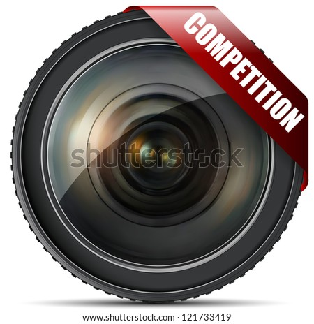 Vintage Competition Lens - stock photo