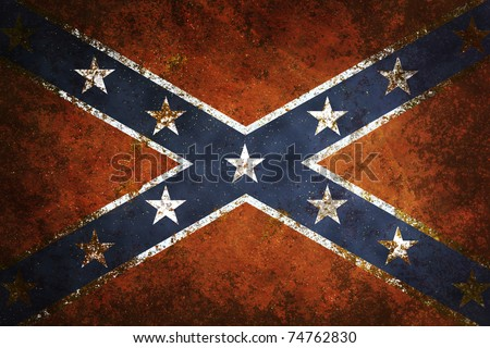 Vintage Confederate Flag - stock photo
