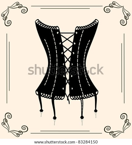 vintage corset - stock photo