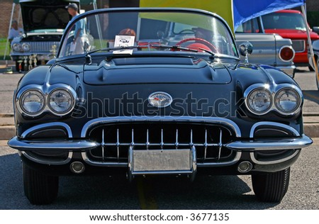 Vintage Corvette - stock photo