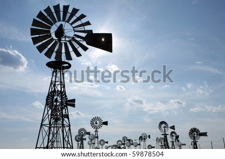 Vintage Country Windmills with room for Copy