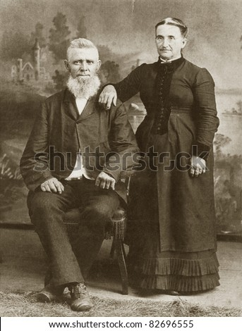Vintage Couple, 1800's - stock photo