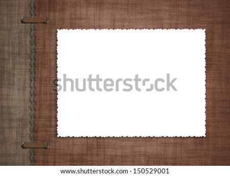 Vintage cover for an album with photos on the abstract background - stock photo