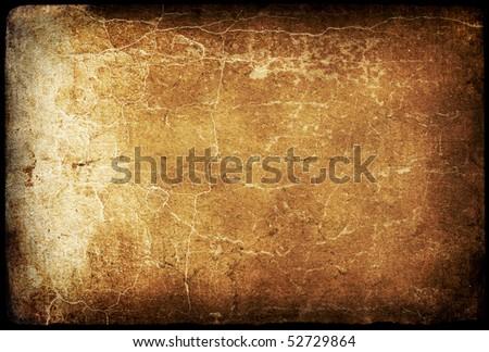 Vintage cracked dark background. - stock photo