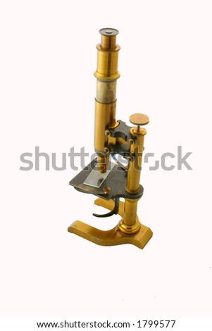 vintage cupper microscope - stock photo