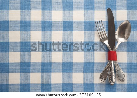 Vintage cutlery on a table   - stock photo