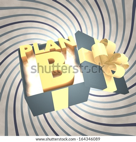 vintage 3d rendered xmas present with plan b icon inside on a helix vintage background - stock photo