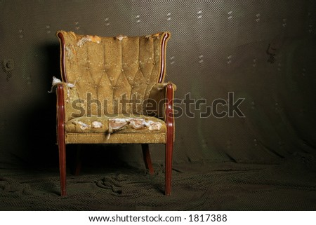 Vintage damaged chair