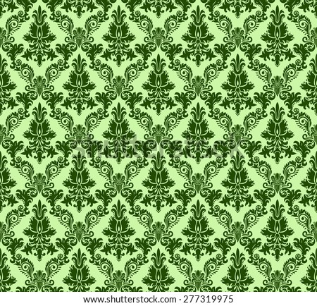 Vintage damask seamless background. Floral motif pattern.