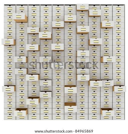vintage database - stock photo