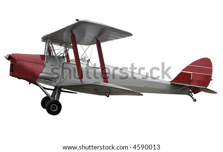 Vintage de Havilland Tiger Moth - stock photo