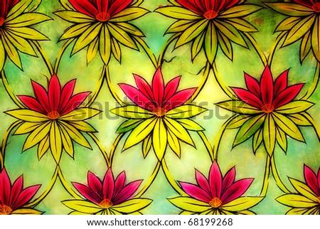 vintage decorative background - stock photo