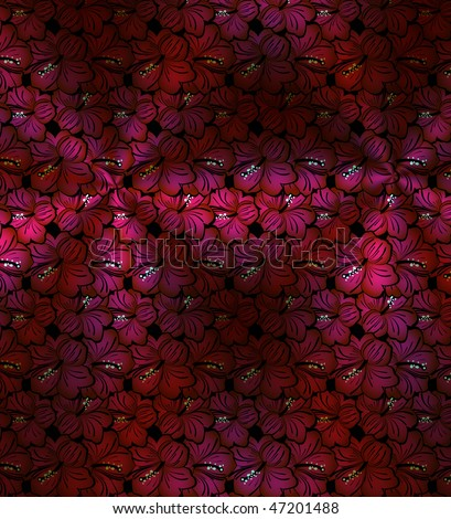 vintage decorative background with red flowers