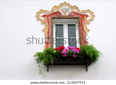 Vintage decorative window in Salzburger Land,Austria