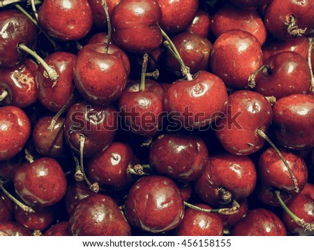 Vintage desaturated Red cherry fruit healthy - useful as a background