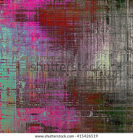 Vintage design background - Grungy style ancient texture with different color patterns: brown; gray; green; blue; red (orange); purple (violet) - stock photo