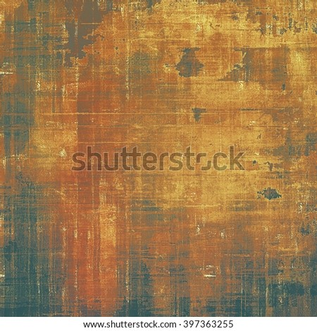 Vintage design background - Grungy style ancient texture with different color patterns: yellow (beige); brown; black; red (orange); gray - stock photo