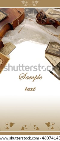 Vintage design with still life framing - stock photo