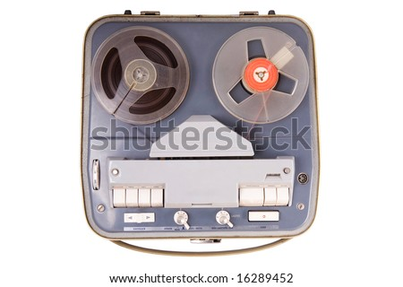 vintage device for playing sound - stock photo