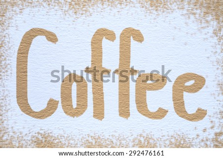 Vintage Dirty Coffee Stain Painted on White Drawing Paper Rough Surface Memo Sketchbook Texture Background
