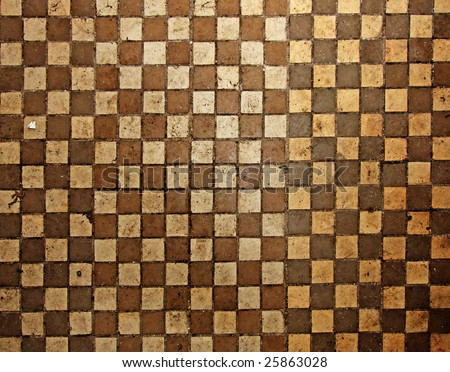 Vintage dirty floor tiles - stock photo