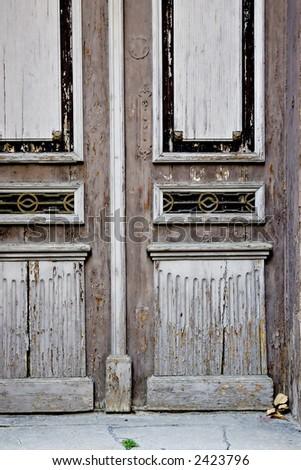 Vintage door element - stock photo